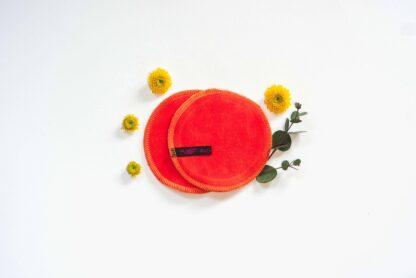Abschmink Pads XXL, Stilleinlagen Orange