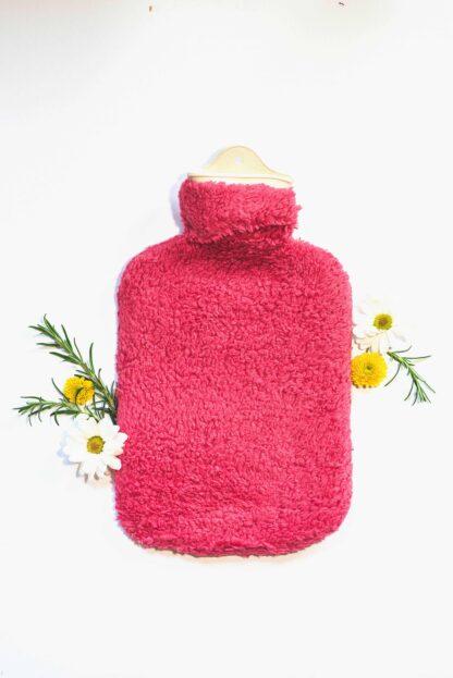 Bezug für Wärmflaschen rosa, Wärmflasche